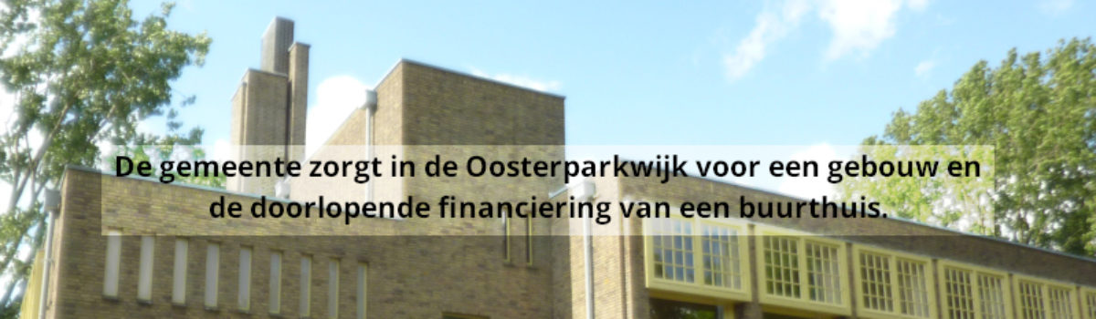 Stelling: gebouw en financiering buurthuis door gemeente