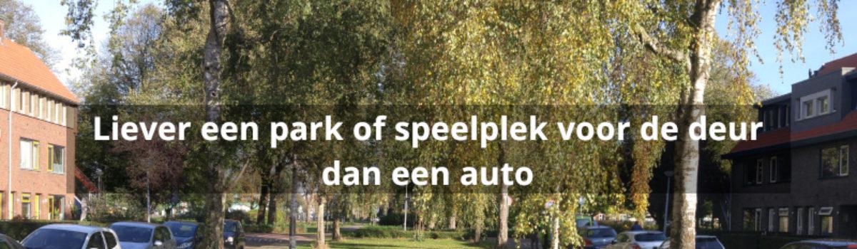 Stelling: Liever een park of speelplek voor de deur dan een auto