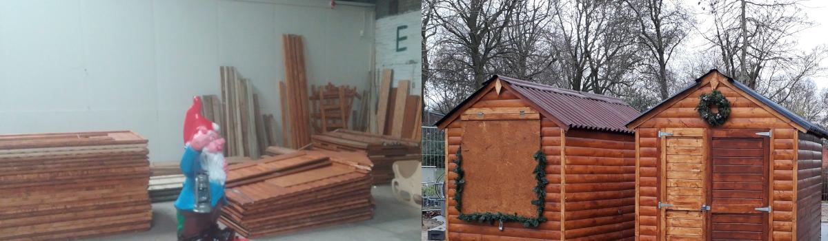 Huisjes voor de winter bouwen